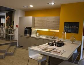 Cucina grigio moderna con penisola Mood Scavolini