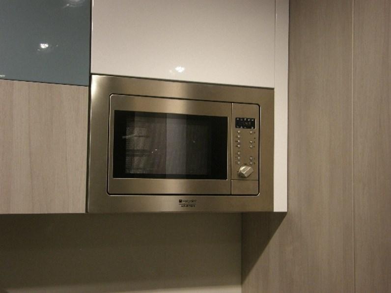 Cucina grigio moderna con penisola swing lube cucine in for Cucine in offerta a torino