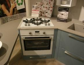 Cucina grigio moderna con penisola Swing Lube cucine in Offerta Outlet
