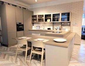 Cucina grigio moderna con penisola Tablet Lube cucine
