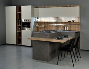 Cucina grigio moderna con penisola Time  Frighetto