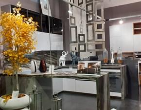 Cucina grigio moderna con penisola Zeta 6  Arredo3 in offerta
