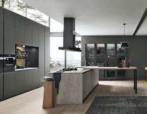 Cucina grigio moderna lineare Aliant Stosa