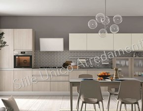 Cucina grigio moderna lineare Charlotte Colombini casa in Offerta Outlet