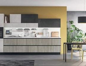 Cucina grigio moderna lineare Colombini Febal in offerta