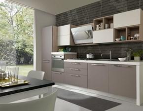Cucina grigio moderna lineare Cucina mod.futura con ante in fenix colore grigio londra scontata del 30% S75