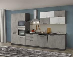 Cucina grigio moderna lineare Cucina mod.kalì di arredo3 scontata del 30% Arredo3 in Offerta Outlet