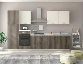 Cucina grigio moderna lineare Cucina ratika 300 cm canyon grigio-bianco perla Artigianale in Offerta Outlet