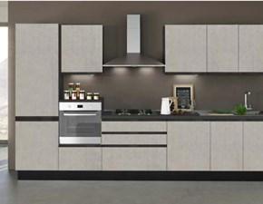 Cucina grigio moderna lineare Dune up Concreta cucine in Offerta Outlet