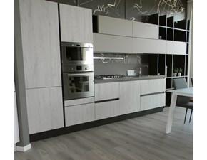 Cucina grigio moderna lineare Erika laminato Aran cucine in Offerta Outlet