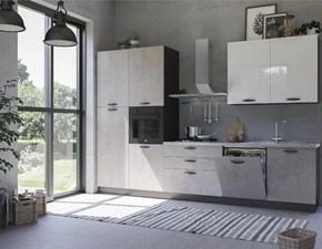 Cucina grigio moderna lineare Giò arredo Evo cucine scontata