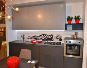 Cucina grigio moderna lineare Immagina Lube cucine