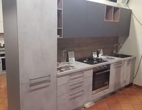 Cucina grigio moderna lineare Kali Arredo3