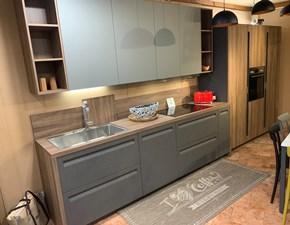 Cucina grigio moderna lineare Kaly Arredo3 in Offerta Outlet