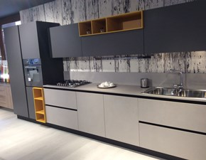 Cucina grigio moderna lineare Li' Artigianale