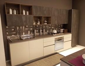 Cucina grigio moderna lineare Liberamente Scavolini