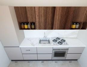 Cucina grigio moderna lineare Line Astra scontata