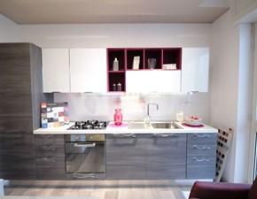 Cucina grigio moderna lineare Martina Lube cucine in Offerta Outlet