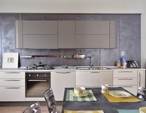 Cucina grigio moderna lineare Maya Stosa cucine in Offerta Outlet