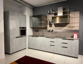 Cucina grigio moderna lineare Mia Scavolini