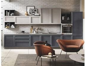 Cucina grigio moderna lineare Nelsa Artigianale