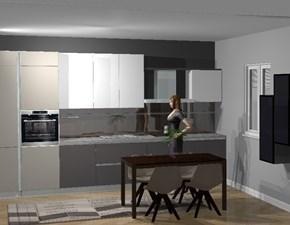Cucina grigio moderna lineare Oslo Gicinque cucine