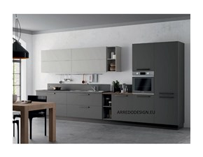 Cucina grigio moderna lineare Pd15 * Artigianale in offerta
