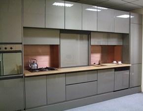 Cucina grigio moderna lineare Rossana - 214 Artigianale in Offerta Outlet