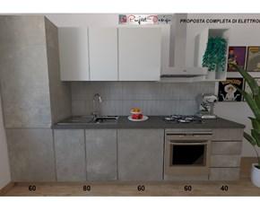 Cucina grigio moderna lineare Sp22 Astra cucine in Offerta Outlet