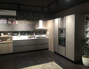 Cucina Immagina moderna grigio ad angolo Lube cucine