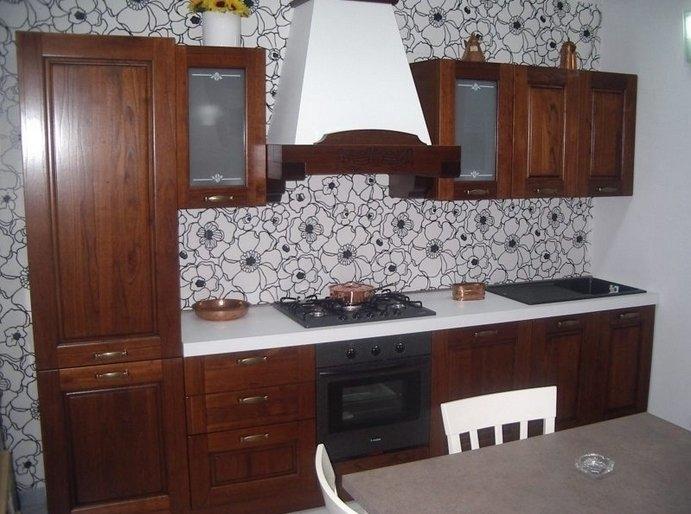 CUCINA IN ARTE POVERA -NOCE - Cucine a prezzi scontati
