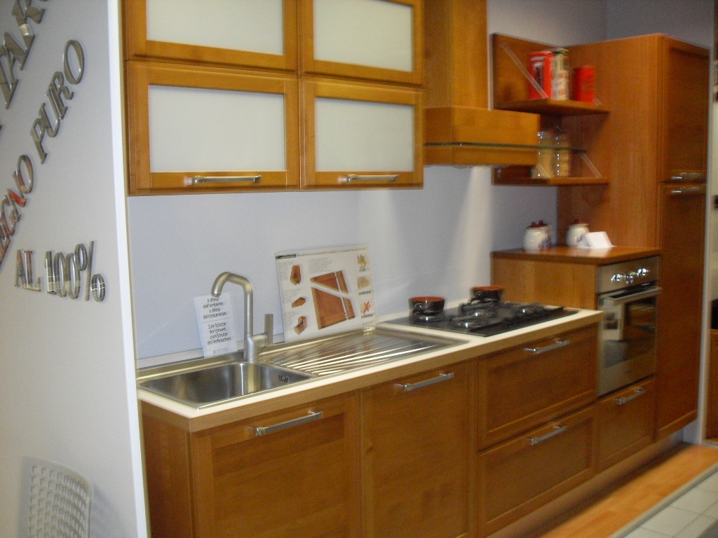 Cucina in ciliegio modello axis cucine a prezzi scontati - Cucina in ciliegio ...