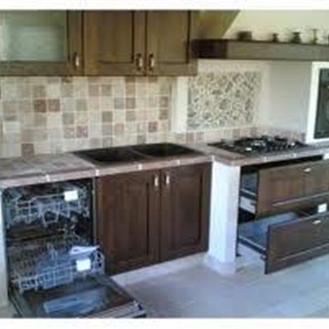 Costruire cucina in muratura moderna idee per il design - Costruire cucina in muratura ...