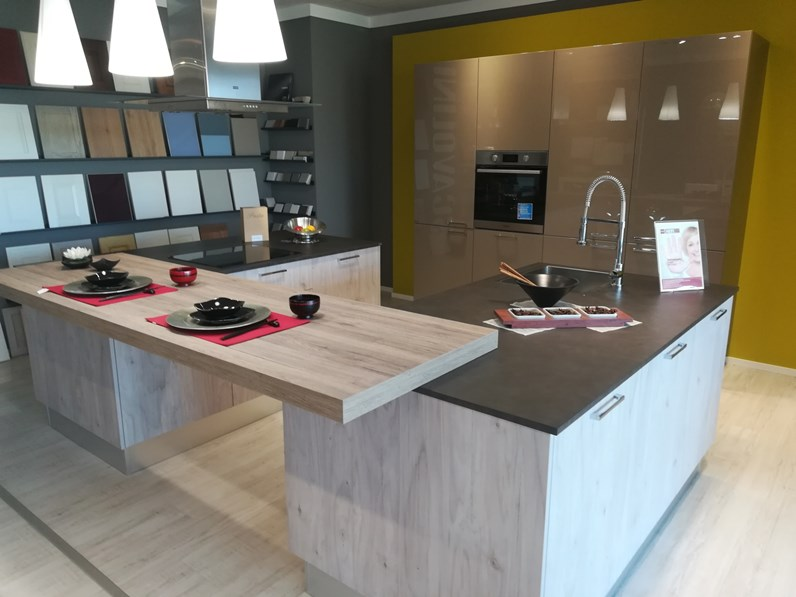 Cucina in laccato lucido e betulla scavolini a prezzi outlet - Mobili scavolini prezzi ...