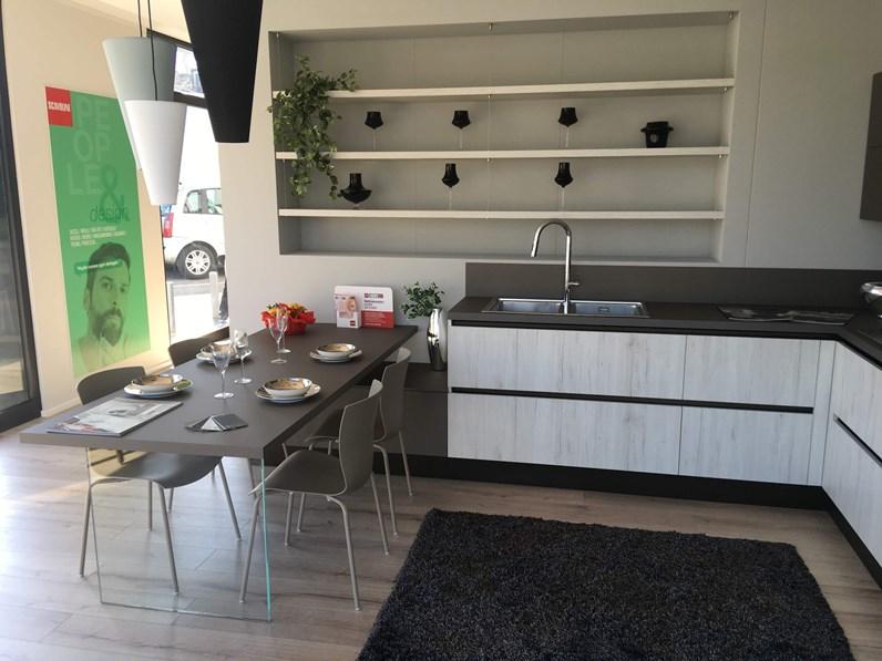 Cucina in laminato materico di scavolini a prezzi outlet cucine a prezzi scontati - Spessore top cucina ...