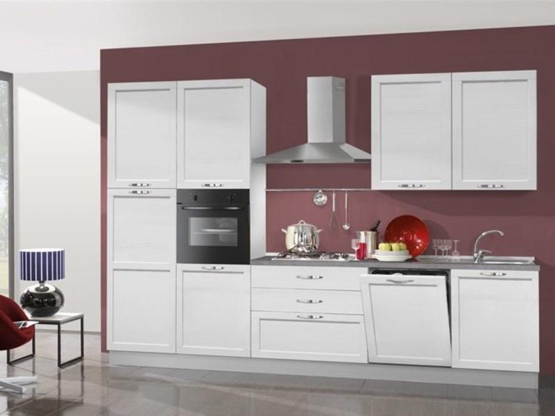 Cucina in legno 330 cm di mobilturi cucine micol offerta for Cucine di design outlet