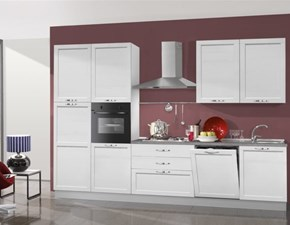 Cucina in LEGNO 330 cm di Mobilturi cucine Micol  OFFERTA OUTLET con lavastoviglie