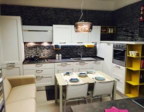Cucina in Legno ad angolo cm 378x200 moderna Taimi bianca Creo kitchens a prezzo ribassato