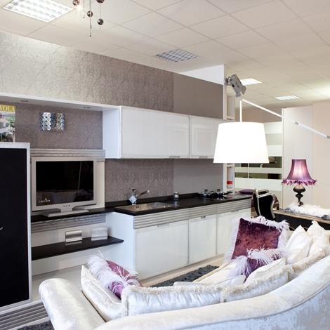 Cucina in legno bianco cucine a prezzi scontati for Cucina legno bianco