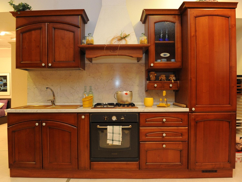 Cucina in legno l 285 cm cucine a prezzi scontati - Cucine in legno prezzi ...
