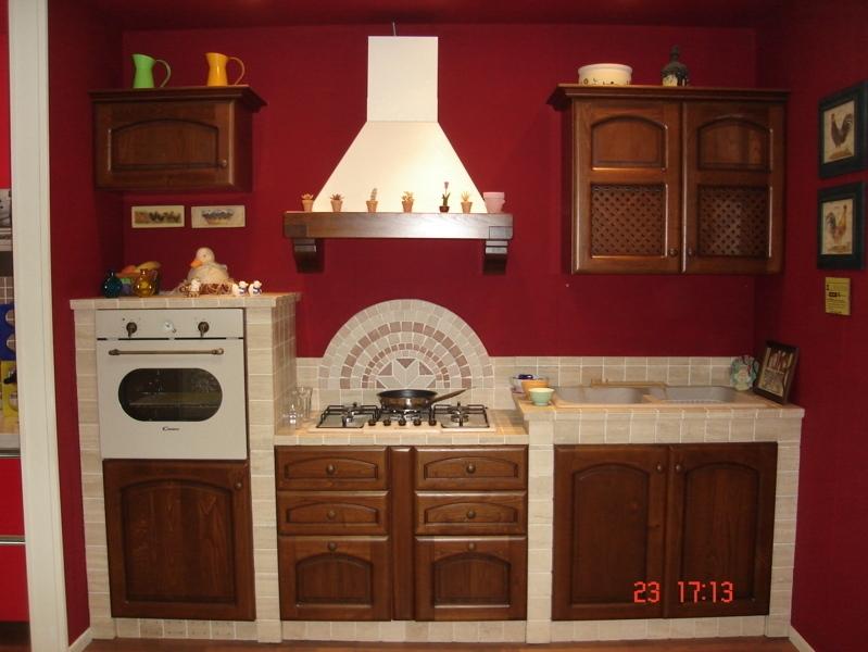 Cucina in muratura record mod lidia ante legno di - Record cucine prezzi ...