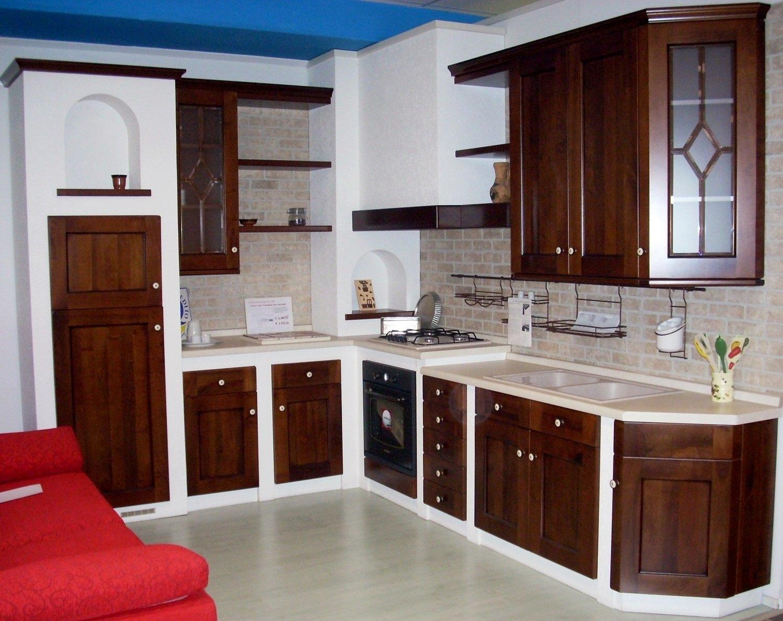 Cucina in muratura scontata 6370 cucine a prezzi scontati - Piano cucina in muratura ...