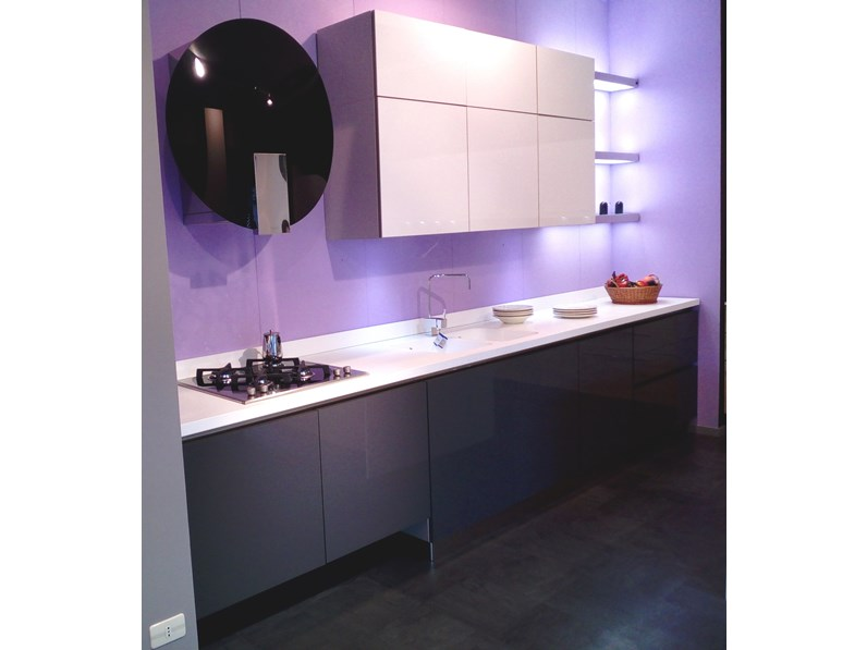 Cucina in polimerico lucido di gicinque cucine a prezzi outlet for Outlet cucine di marca