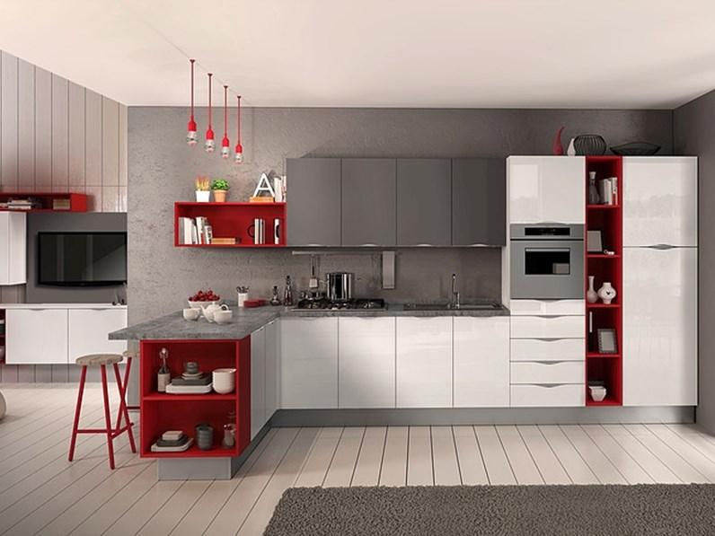 Cucina in polimerico lucido essebi cucine a prezzi outlet - Cucine essebi prezzi ...