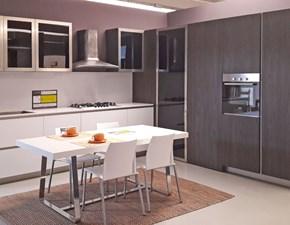 Cucina Industrial bianca e noce scuro LAB13 by Aran SCONTATA A PREZZO OUTLET