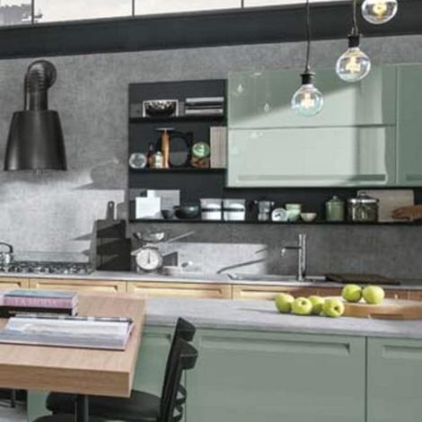 Cucina industrial green eco in offerta con isola e piano - Piano lavoro cucina ...