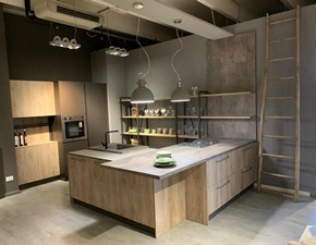 Cucina Industrial industriale rovere chiaro ad angolo Astra