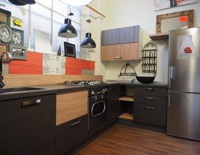 cucina industrial  line moderna city urban in offerta expo outlet