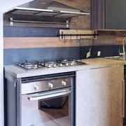 cucina industrial living con anta scorrevole