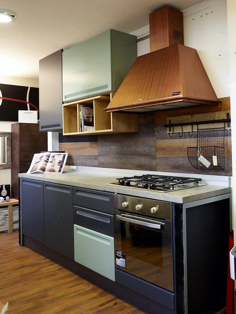 Cucina industrial moderna con cappa rame franke in offerta - Cappa cucina moderna ...